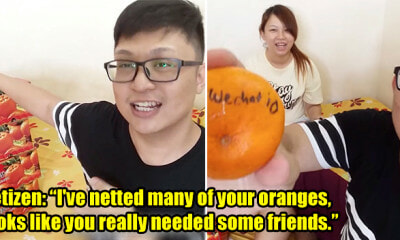 M'sian Youtubers Toss 128 Oranges on Chap Goh Meh, Guess How Many People Responded! - WORLD OF BUZZ