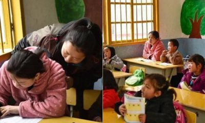 This Mother Enrols Herself Into Daughter's Kindergarten to Make-up For Loss Education - WORLD OF BUZZ