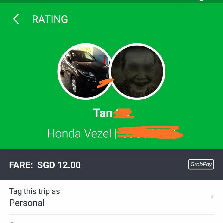Grab Driver Using Spooky Profile Picture Purposely Brought Female Passenger Through Cemetery - WORLD OF BUZZ