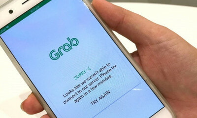 Grab Experiences 3-Hour Disruption Across Southeast Asia Just Days Before Uber's Departure - WORLD OF BUZZ 1