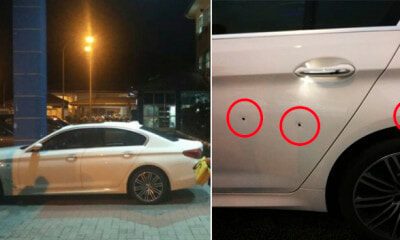 Gunman Blatantly Fired 3 Shots at Businessman's Car in Front of Traffic Light in Seremban - WORLD OF BUZZ