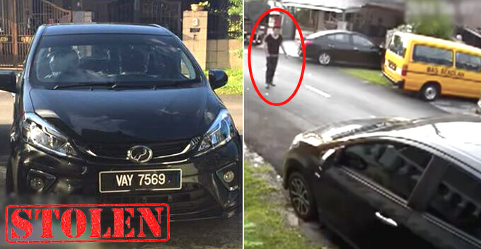 Guy Casually Walks to New Myvi and Effortlessly Stole it Under 30 Seconds in Ampang Jaya - WORLD OF BUZZ