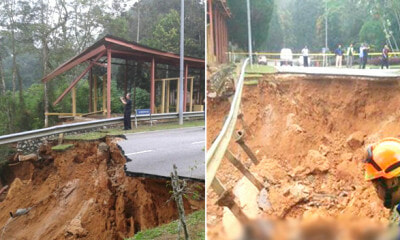 Massive Landslide Just Happened at an Institute En-Route to Genting Highlands This Morning - WORLD OF BUZZ 1