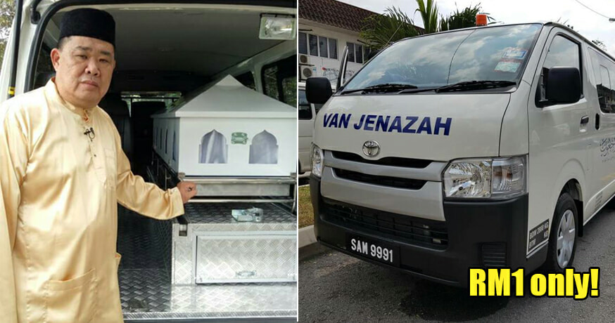 Meet the Man Who Started a RM1 Funeral Transportation Service For Those in Need - WORLD OF BUZZ