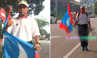 M'sian Ex-Army Walks 284KM to Putrajaya to Raise Awareness About Changing the Gov - WORLD OF BUZZ