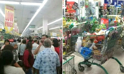 M'sians Sweep Everything Into Trolleys And Wait For Tmj To Arrive, Turns Out To Be A Hoax - World Of Buzz