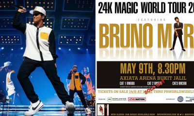 PR Worldwide Announce Bruno Mars KL Concert to Go on As Planned on 9th May - WORLD OF BUZZ 9