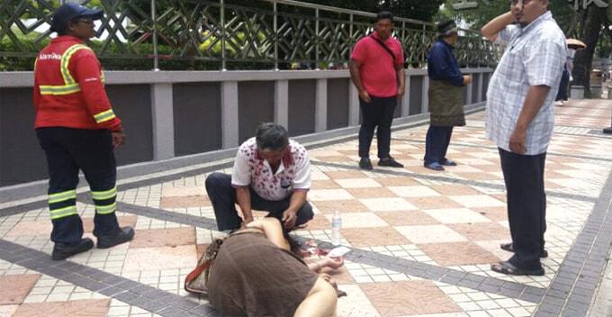 Taiwanese Tourist Unconscious After Falling Victim to Snatch Theft near Masjid Negara - WORLD OF BUZZ