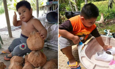 This Sarawakian Kid is Melting Netizens' Heart with Pictures of Him Doing House Chores - WORLD OF BUZZ