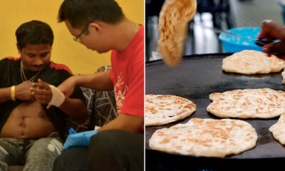 BN Supporters Try to Press Man's Face Against Hot Skillet For Placing PKR Flags on Table - WORLD OF BUZZ