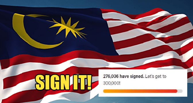Malaysians Are Signing This Petition for PH, Gains 30000 Signatures in ONE Hour! - WORLD OF BUZZ 1
