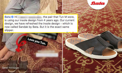 Malaysians Looking for Tun Mahathir's Slippers and Bata Responded! - WORLD OF BUZZ