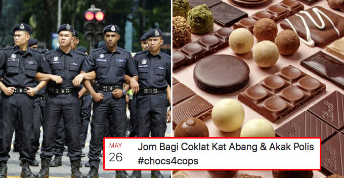Malaysians Want to Give Chocolate to All Policemen, Here's How You Can Join - WORLD OF BUZZ