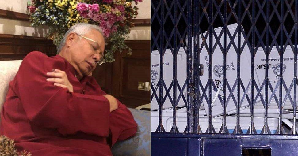 Najib's House Raid By The Police Took So Long That He Fell Asleep - World Of Buzz 2