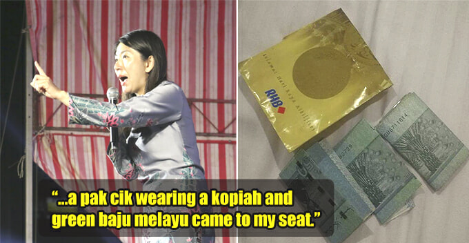 Pak Cik Heartwarmingly Gives RM500 From His Savings to PH Candidate After Ceramah - WORLD OF BUZZ