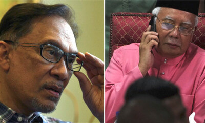 """Shattered"" Najib Actually Called Anwar Twice the Night He Lost the GE Asking for Advice - WORLD OF BUZZ"