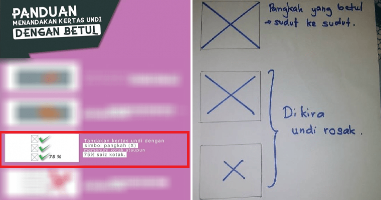 Stop Sharing This Fake Image of Incorrect Ways of Marking Your Ballot Paper - WORLD OF BUZZ