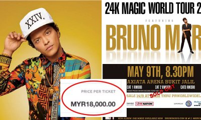 This M'sian is Actually Reselling Bruno Mars Concert Tickets for RM18,000 a Piece! - WORLD OF BUZZ
