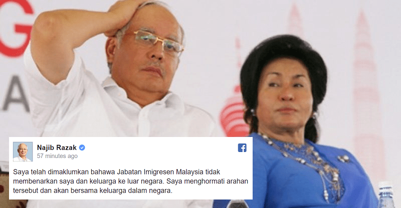 UPDATE: Back after the Break? Najib and Rosmah to stay in Malaysia - WORLD OF BUZZ 1