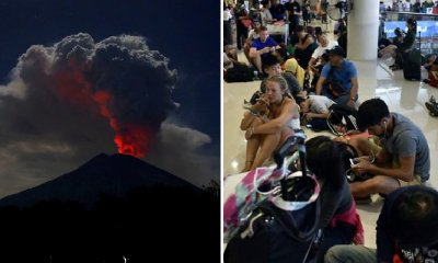 All Flights To and From Bali Cancelled As Mount Agung Erupts with Volcanic Ash and Flames - WORLD OF BUZZ 3