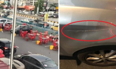 Angry Drivers Complain That Food Court Near C180 Hogs Parking Spaces, Cars Allegedly Got Scratched - WORLD OF BUZZ 3