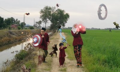 Check Out This Family's Blockbuster-Themed Raya Photos That Have Gone Viral! - WORLD OF BUZZ