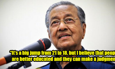 Dr Mahathir Wants To Lower Voting Age To 18 After M'sia Showed People Power In Ge14 - World Of Buzz