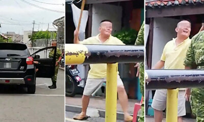 Man Shows Finger and Intimidates Rela Officer in Jonker Street After Going Against Traffic - WORLD OF BUZZ