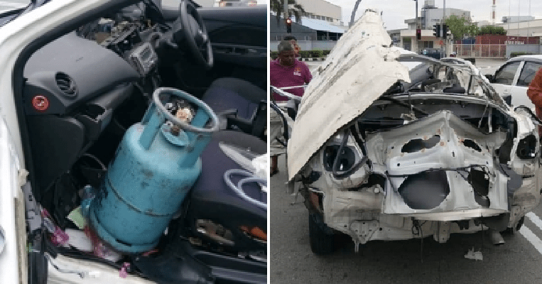Man Suffers Severe Injuries When Gas Tank in Car Leaks and Explodes in Subang Jaya - WORLD OF BUZZ 2