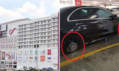 M'sian Shares How Her Car Tyres and Rims Were Stolen in Cheras Mall Parking Lot - WORLD OF BUZZ 1