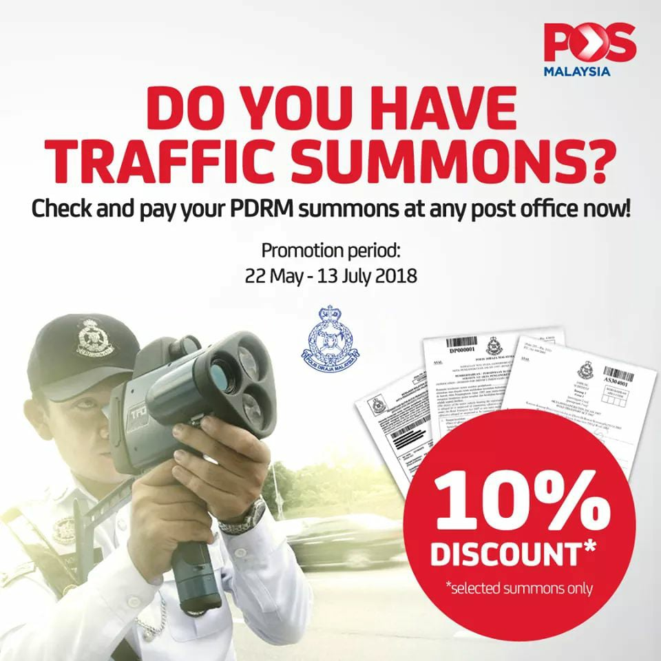 You Can Get 10% Discount for PDRM Summons Until - WORLD OF BUZZ