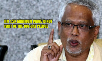 Deputy HR Minister: RM1,500 Minimum Wage is Not 100-Day Pledge But Five-Year Plan - WORLD OF BUZZ