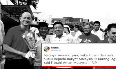 Former Umno Leader Called Out by Netizens For Disrespecting Recently Deceased DAP Assemblyman - WORLD OF BUZZ