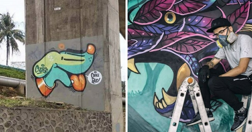 If You've Seen This Turquoise Dog Anywhere Overseas, It's Actually by A Malaysian Graffiti Artist! - WORLD OF BUZZ 1