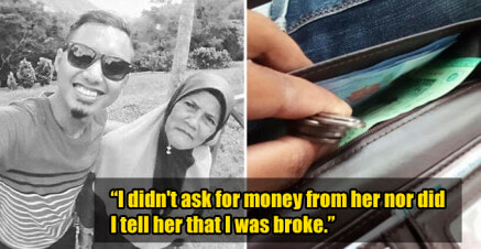 Mother Left With RM20 Secretly Puts RM9 and Some Coins into Poor Son's Wallet Before He Goes to Work - WORLD OF BUZZ