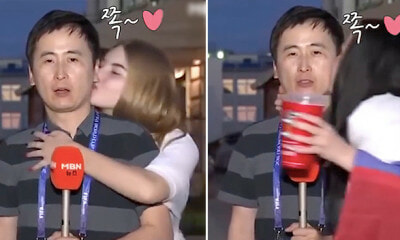M'sian Netizens Want to Visit Russia After S.Korean Reporter Kissed by Two Lovely Ladies - WORLD OF BUZZ