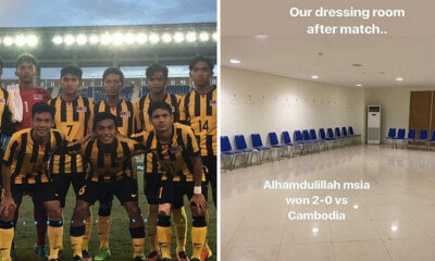 M'sian Under-19 Football Team Follow Japan & Clean Dressing Room After Beating Cambodia 2-0 - WORLD OF BUZZ