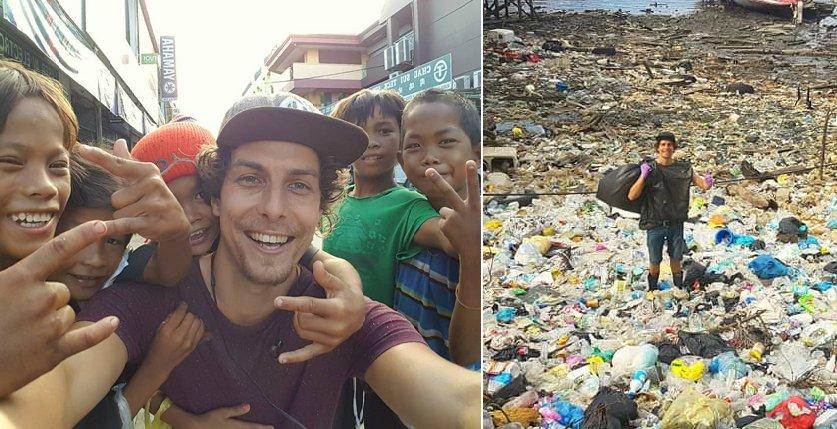 Netherlands Tourist Starts Picking Up Trash, Creates Awareness In Sabah - WORLD OF BUZZ