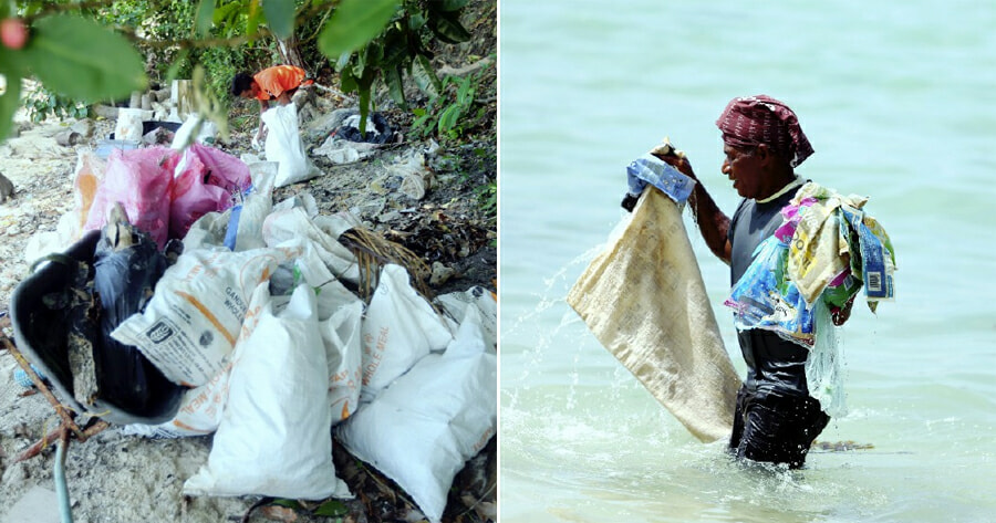 Refrigerators, TV Sets & Car Bumpers Found Among Loads of Sea Garbage at Sabah Resorts - WORLD OF BUZZ