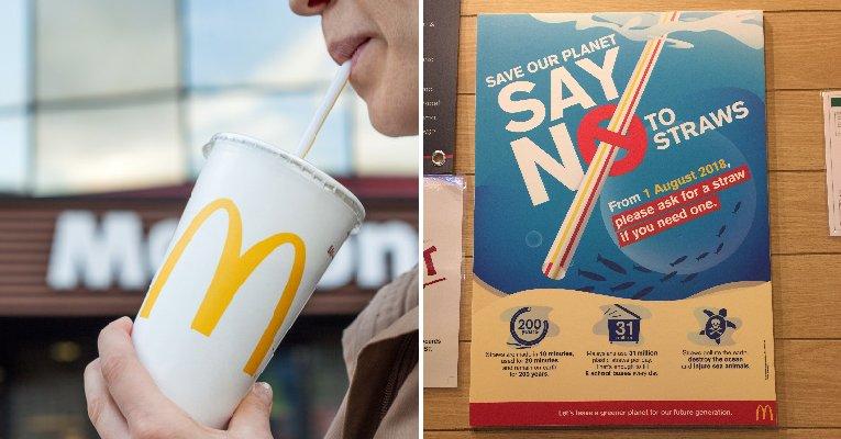 Starting August 1, McDonald's Malaysia Will Stop Providing Plastic Straws Automatically - WORLD OF BUZZ 4