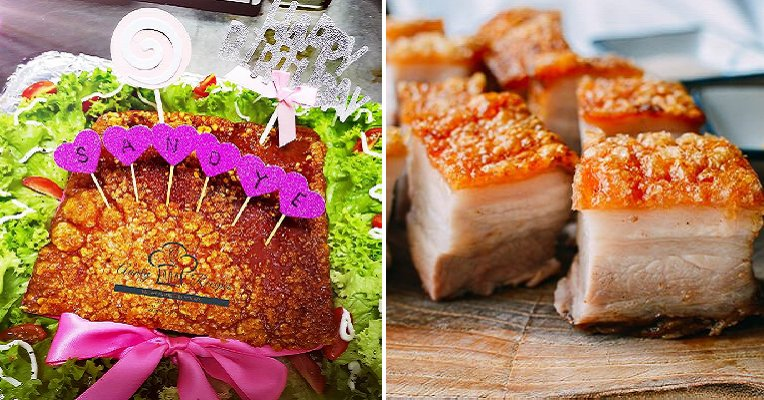 "This Cafe in Penang Has a Crispy Pork Belly Birthday ""Cake"" And We're Drooling! - WORLD OF BUZZ 11"