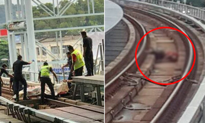BREAKING: Passenger Tragically Dies After Falling on Track at Pusat Bandar Puchong LRT Station - WORLD OF BUZZ 2