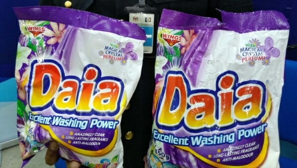 Fake Daia Detergent Found in Shops in Malaysia, Over 1,300 Packs Seized - WORLD OF BUZZ