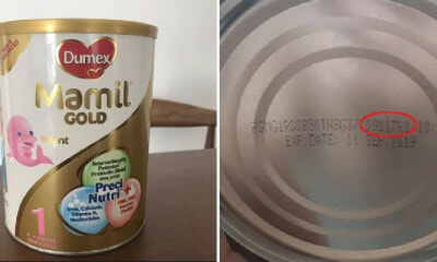 M'sian-Manufactured Dumex Infant Milk Formula Recalled In Singapore After Harmful Bacteria Detected - World Of Buzz