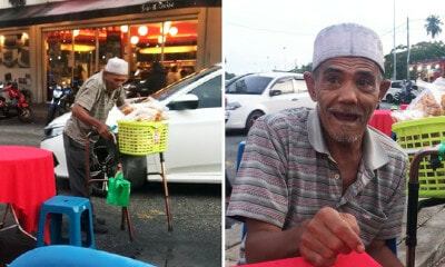 This Elderly Man's Own Children Forced Him to Sell Keropok on the Streets - WORLD OF BUZZ 1