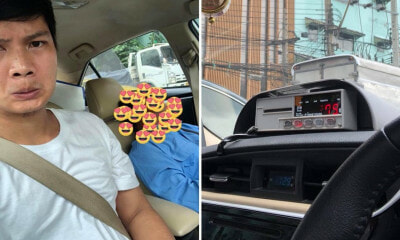 Tired Taxi Driver Asks Passenger to Drive While He Takes A Nap - WORLD OF BUZZ 1