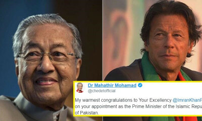 Tun M Congratulates New Pakistan PM Who Supported PH's Fight for Corruption Pre-GE14 - WORLD OF BUZZ