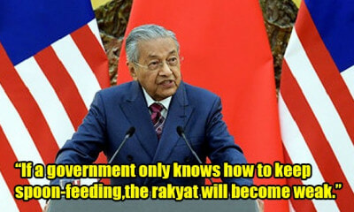 "Tun M: ""Rakyat 'Spoilt' By Najib's Payouts, Govt Will Reduce and Abolish BR1M"" - WORLD OF BUZZ"