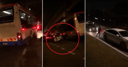Watch: RapidKL Bus Hits Over 20 Cars in Real Life GTA Joyride - WORLD OF BUZZ