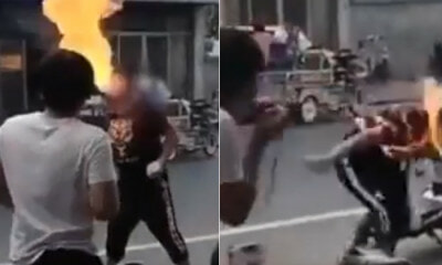 16yo Teen Accidentally Sets His Face on Fire While Attempting Fire-Breathing Act - WORLD OF BUZZ